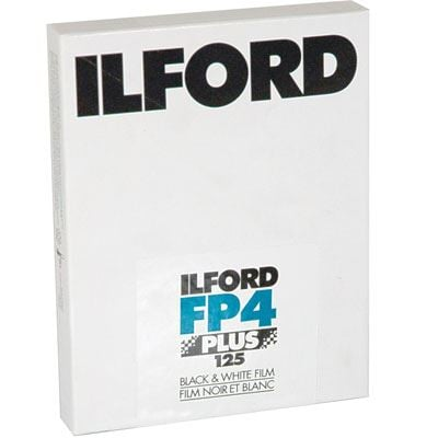 Image of Ilford FP4 Plus 5x4 inch sheet Film 25 sheets